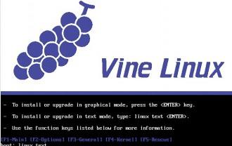 vile linux 4.2をテキストモードでインストールする方法